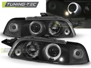 Передние фары Fiat Punto MK1 angel eyes black