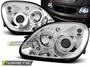 Передние фары angel eyes chrome для Mercedes SLK R170