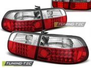 Задние фонари Honda Civic 5 red white led