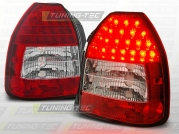 Задние фонари Honda Civic 6 red white led