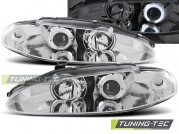 Передние фары Mitsubishi Eclipse D30 angel eyes chrome