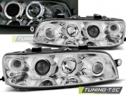 Передние фары Fiat Punto 2 angel eyes chrome