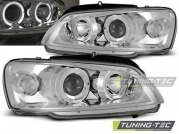 Передние фары Peugeot 106 angel eyes chrome