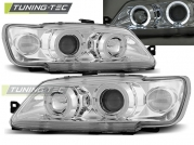 Передние фары Peugeot 306 angel eyes chrome