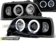 Передние фары Renault Clio 1 angel eyes black