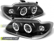 Передние фары Renault Megane 1/Scenic 1 angel eyes black