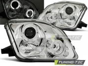 Передние фары Honda Prelude 5 angel eyes chrome