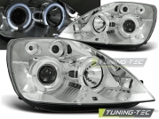 Передние фары Ford Fiesta 6 angel eyes chrome