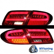 Задние фонари red white led bar для Mazda 6 II