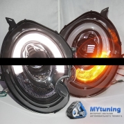 Передние фары Mini Cooper tube light black