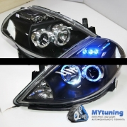 Передние фары Nissan Tiida led angel eyes