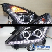 Передние фары Nissan Teana angel eyes YZ type