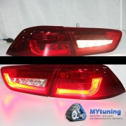 Задние фонари Mitsubishi Lancer 10 red led