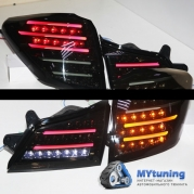 Задние фонари Subaru Outback B14 smoke black led