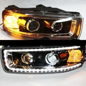 Передние фары Chevrolet Captiva led black