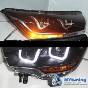 Передние фары Citroen C4L black U type led