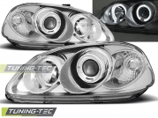 Передние фары Honda Civic 6 angel eyes chrome