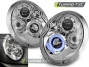 Передние фары angel eyes chrome для Mini Cooper R50 / R53