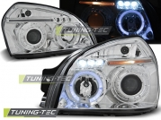 Передние фары Hyundai Tucson angel eyes chrome