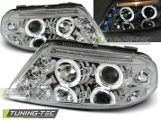 Передние фары angel eyes chrome для VW Passat B5 GP