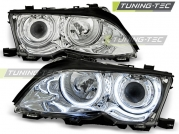 Передние фары Bmw  3 E46 angel eyes ccfl chrome