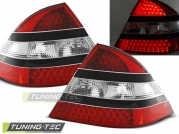 Задние фонари Mercedes S W220 red black led