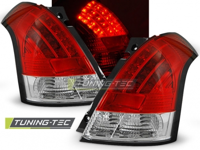 Задние фонари Suzuki Swift 3 red white led