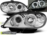Передние фары Citroen Saxo angel eyes chrome