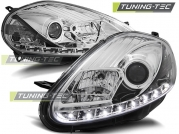 Передние фары Fiat Grande Punto daylight chrome