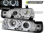 Передние фары Bmw 3 E36 angel eyes ccfl chrome