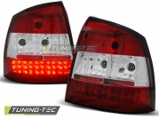 Задние фонари Opel Astra G red white led