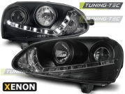 Передние фары VW Golf 5 daylight D2S black