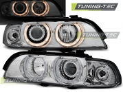 Передние фары Bmw 5 E39 angel eyes H7/H7 chrome