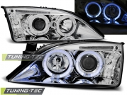 Передние фары Ford Mondeo 3 angel eyes chrome