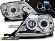 Передние фары Toyota Hilux angel eyes chrome