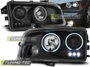 Передние фары Dodge Charger angel eyes ccfl black