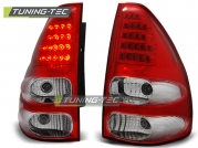 Задние фонари red white led для Toyota Land Cruiser Prado 120