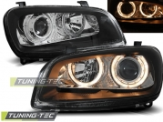 Передние фары Toyota Rav 4 angel eyes black