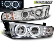 Передние фары Mitsubishi Galant 8 angel eyes ccfl chrome