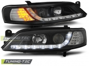 Передние фары Opel Vectra B daylight black led indicator