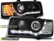 Передние фары daylight black led indication для VW T4
