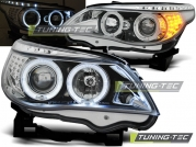 Передние фары Bmw 5 E60/E61 angel eyes chrome led indicator