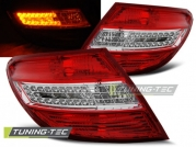 Задние фонари Mercedes C W204 red white led