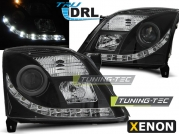 Передние фары Opel Vectra C daylight black drl D2S