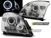 Передние фары angel eyes ccfl chrome для Toyota Land Cruiser Prado 120