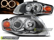 Передние фары Audi A4 B7 angel eyes chrome
