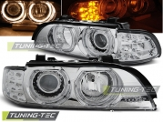 Передние фары Bmw 5 E39 angel eyes chrome led indicator