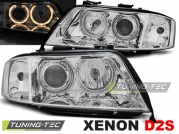 Передние фары angel eyes chrome xenon для Audi A6 C5