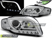 Передние фары Audi A4 B7 led tube lights chrome