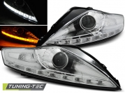Передние фары Ford Mondeo 4 daylight chrome led indicator